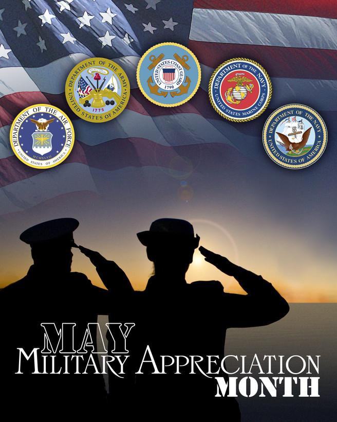 Military Appreciation Month Banner